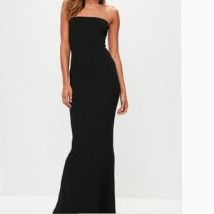 Missguided stretch crepe maxi